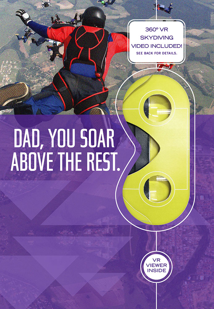 Skydiving Virtual Reality Father's Day Card
