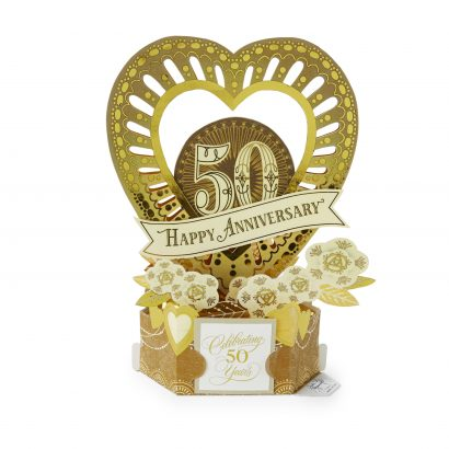 Wonderfolds - Celebrate the Years 50th Anniversary Card