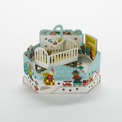 Wonderfolds - Boy Nursery New Baby Card
