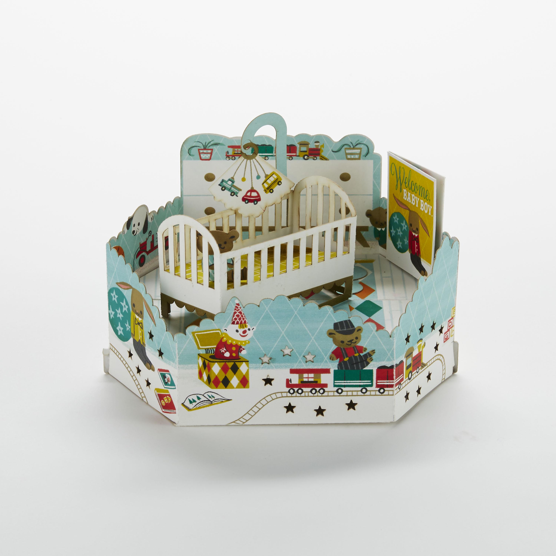 Wonderfolds – Boy Nursery New Baby Card