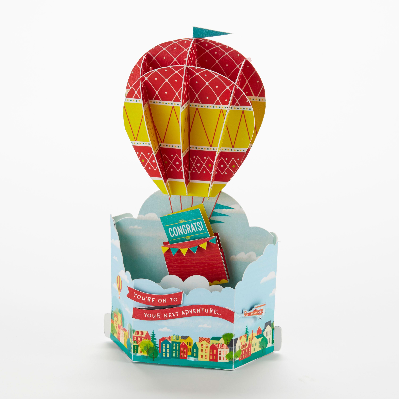 Wonderfolds - Congratulations Hot Air Balloon Card