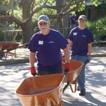 """Hallmark volunteers help at Kansas City's """"Wild Day at the Zoo"""" volunteer activity."""
