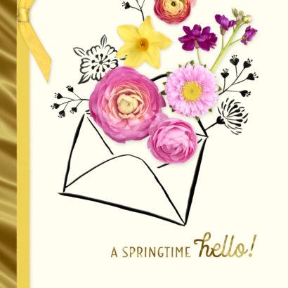A Springtime Hello Easter Card