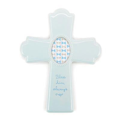 Blue Photo Frame Cross