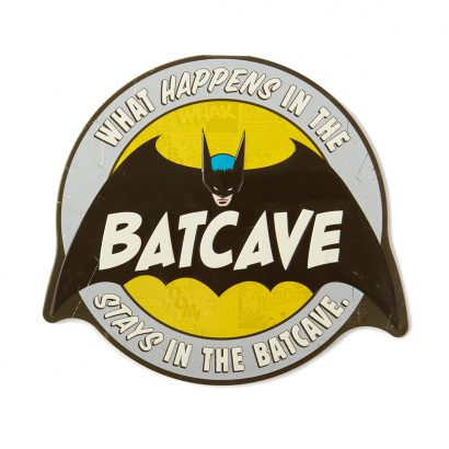 Batcave Metal Sign