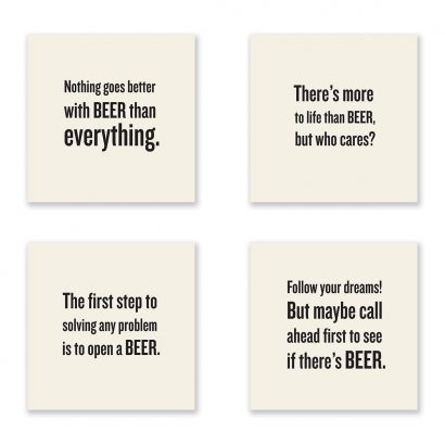 Beer Lovers Coaster Set
