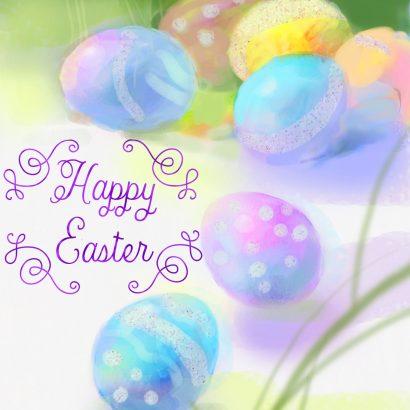 Spring Color Easter Card
