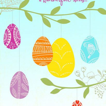 Happy Easter Wonderful Spring Easter Card