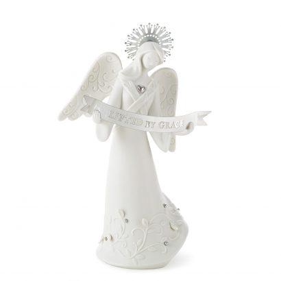 Lifted By Grace Angel Figurine
