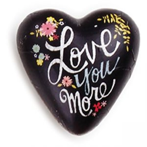 Love You More Art Heart Token