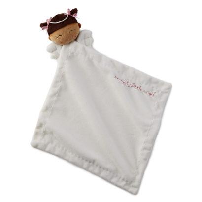 Medium Skin Tone Girl Angel Cozy Blanket