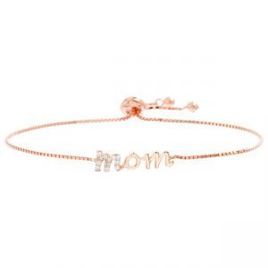 Mom Bolo Bracelet in Rose Gold-Plated Sterling Silver