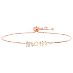 Mom Bolo Bracelet in Rose Gold-Plated Sterling Silver