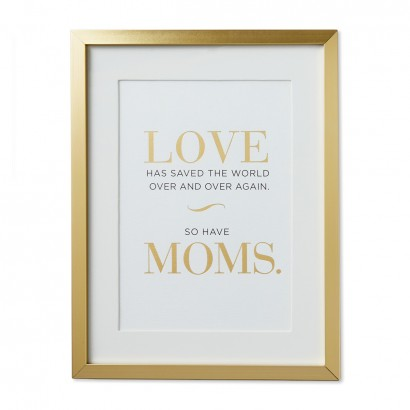 Moms Save the World Framed Print