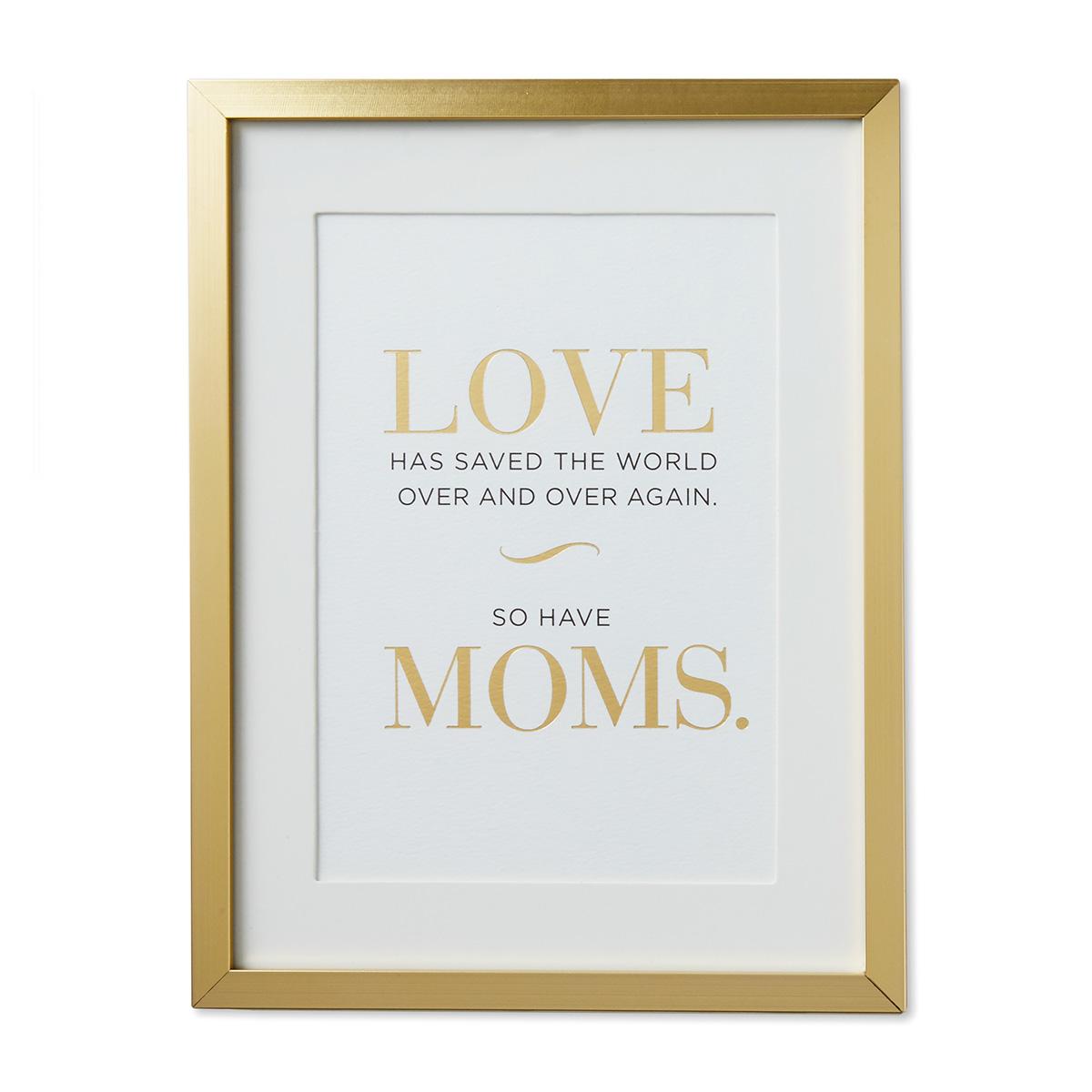 Moms Save the World Framed Print