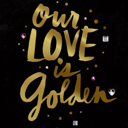 Jill Scott Our Love is Golden Valentine's Day Card