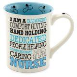 Our Name is Mud Nurse Typography Coffee Mug