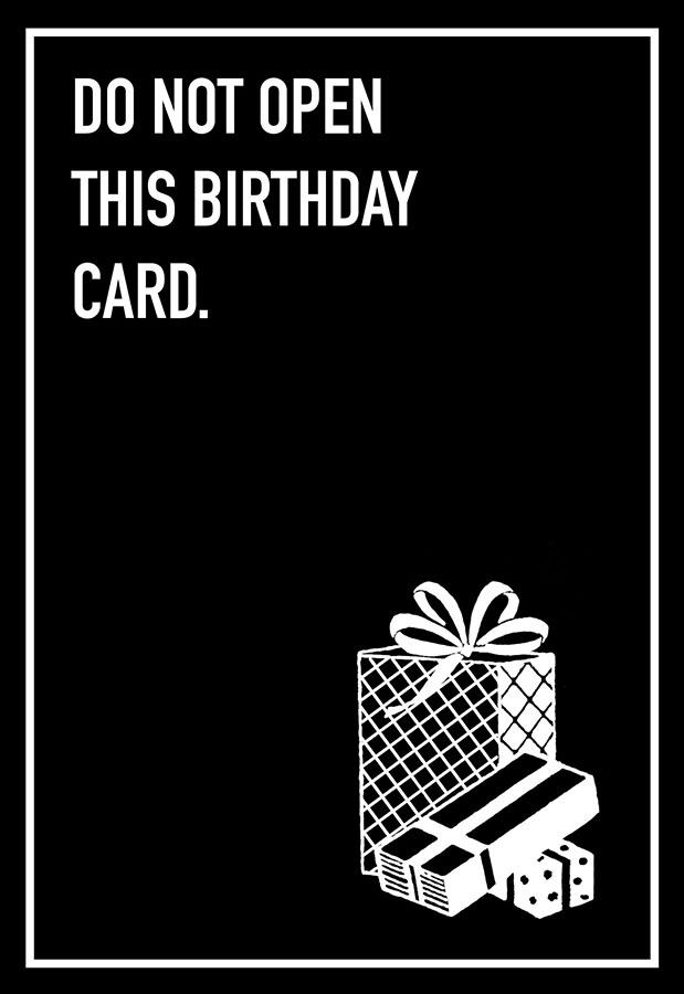 Do Not Open Shoebox Card