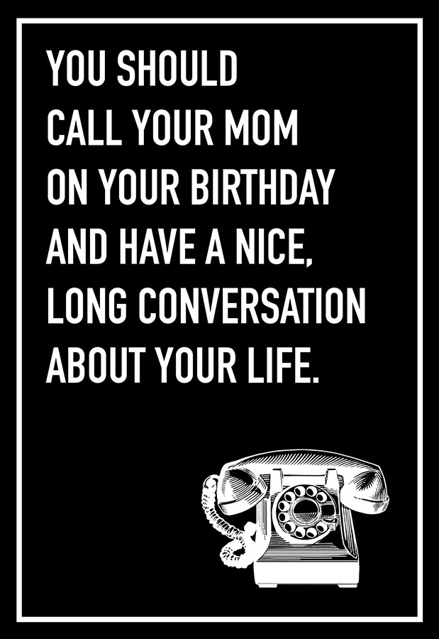 Call Your Mom Shoebox Card