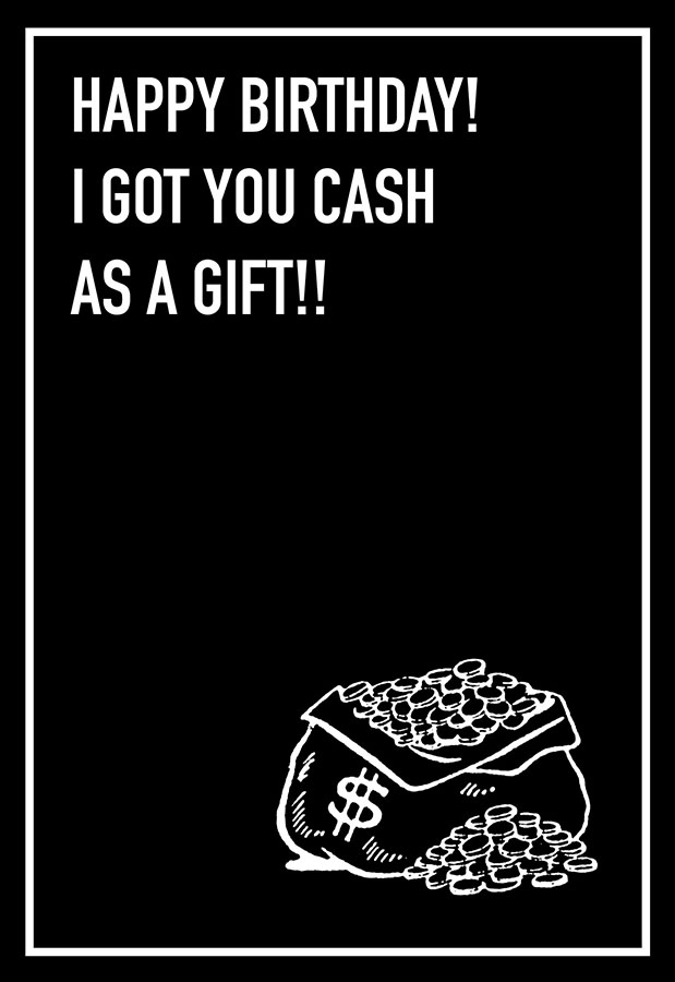 Cash as a Gift Shoebox Card