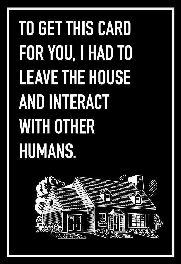Interact with Humans Shoebox Card