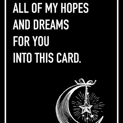 Hopes and Dreams Shoebox Card