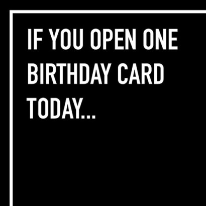 If You Open Shoebox Card