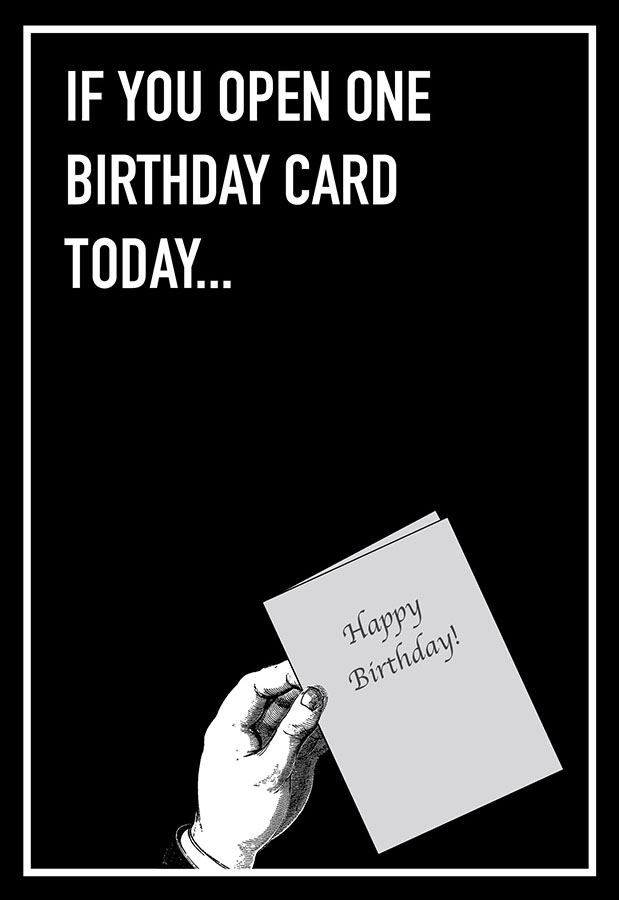 If You Open Shoebox Card