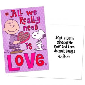 Peanuts Happiness and Love Valentine's Day Card