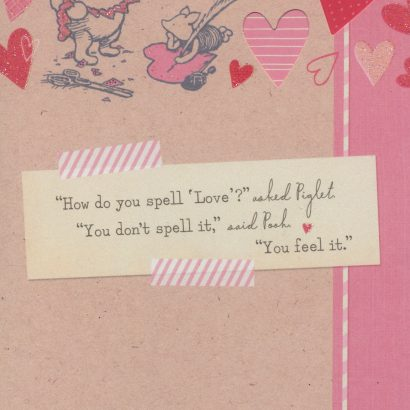 Winnie the Pooh Valentine's Day Card for Daughter