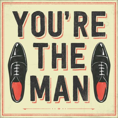 You're The Man Musical Birthday Card