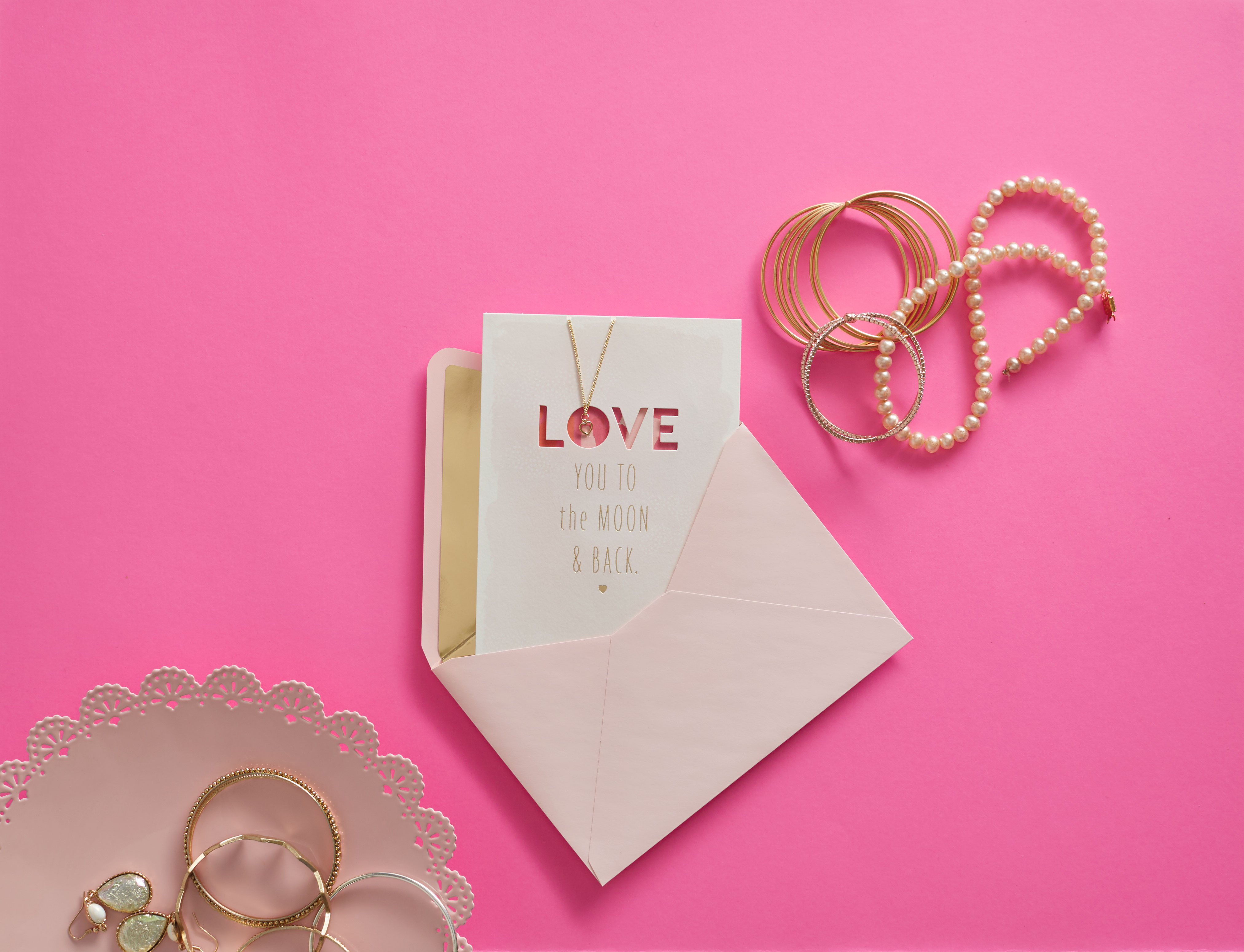 Signature – Love You to the Moon Mother's Day Card