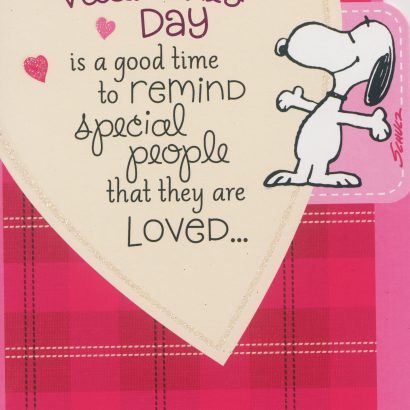 Snoopy Reminder Valentine's Day Card