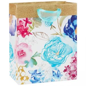 Watercolor Blooms Medium Gift Bag