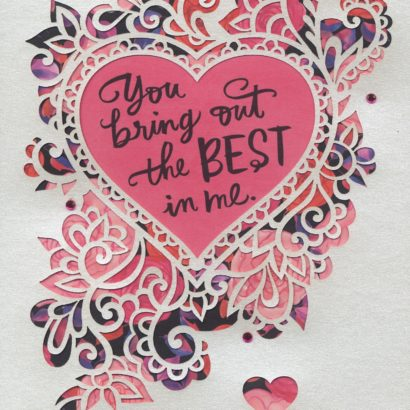 Best in Me Valentine's Day Card for wife