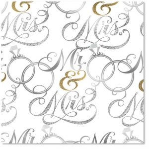 Mr. and Mrs. Wedding Wrapping Paper