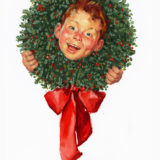 Norman Rockwell Christmas Wreath