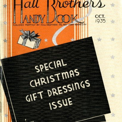 Hallmark Gift Wrap - 1935 Handy Book Cover