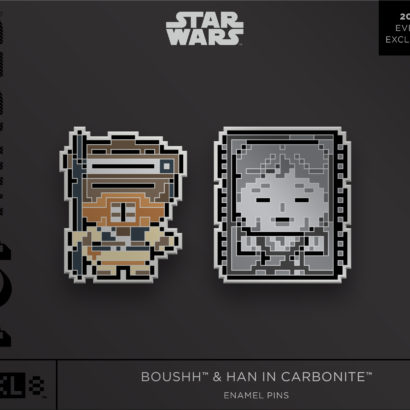 Star Wars Boushh & Han in Carbonite Enamel Pins