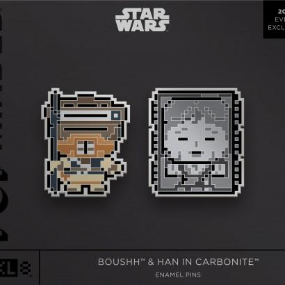 Star Wars Boushh & Han in Carbonite Enamel Pins