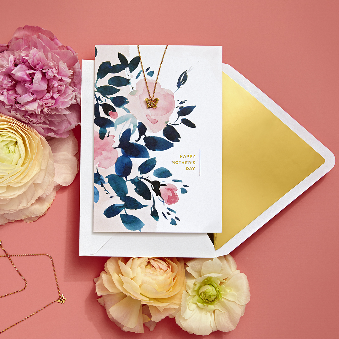 Greetings – Signature Card – Butterfly Necklace + Out