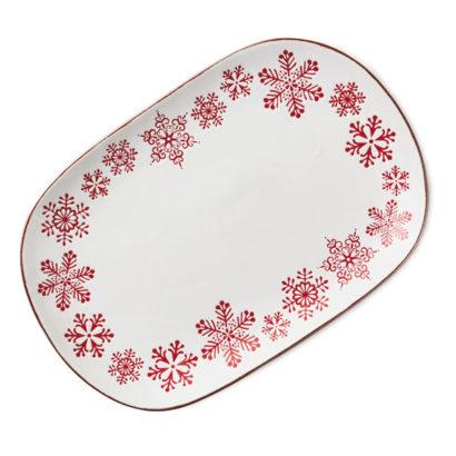 Hallmark Gold Crown - Large Snowflake Platter