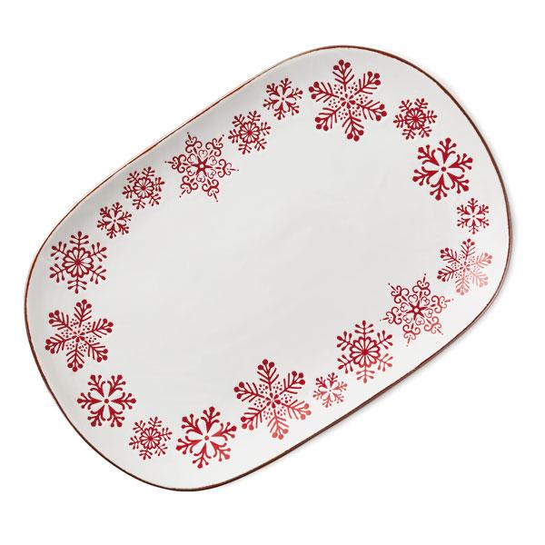 Hallmark Gold Crown – Large Snowflake Platter