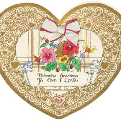 1920 Valentine's Day Card