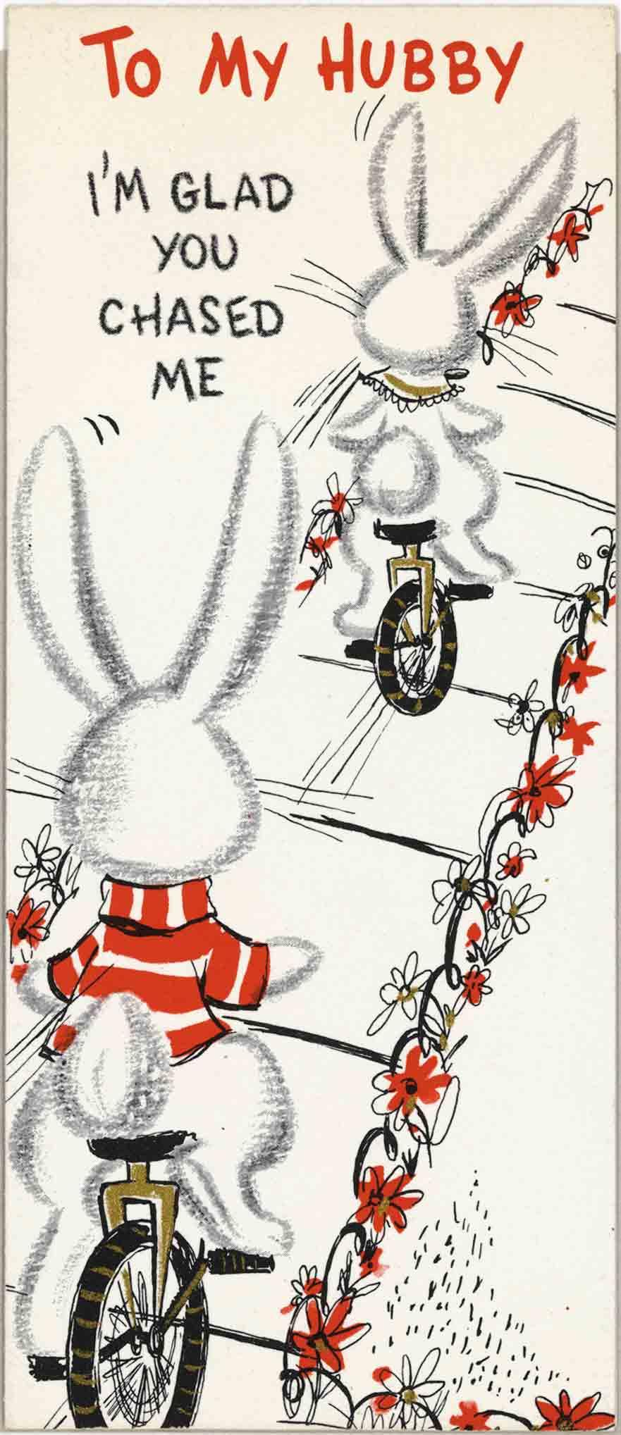 1958 Valentine's Day Card
