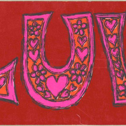 1968 Valentine's Day Card
