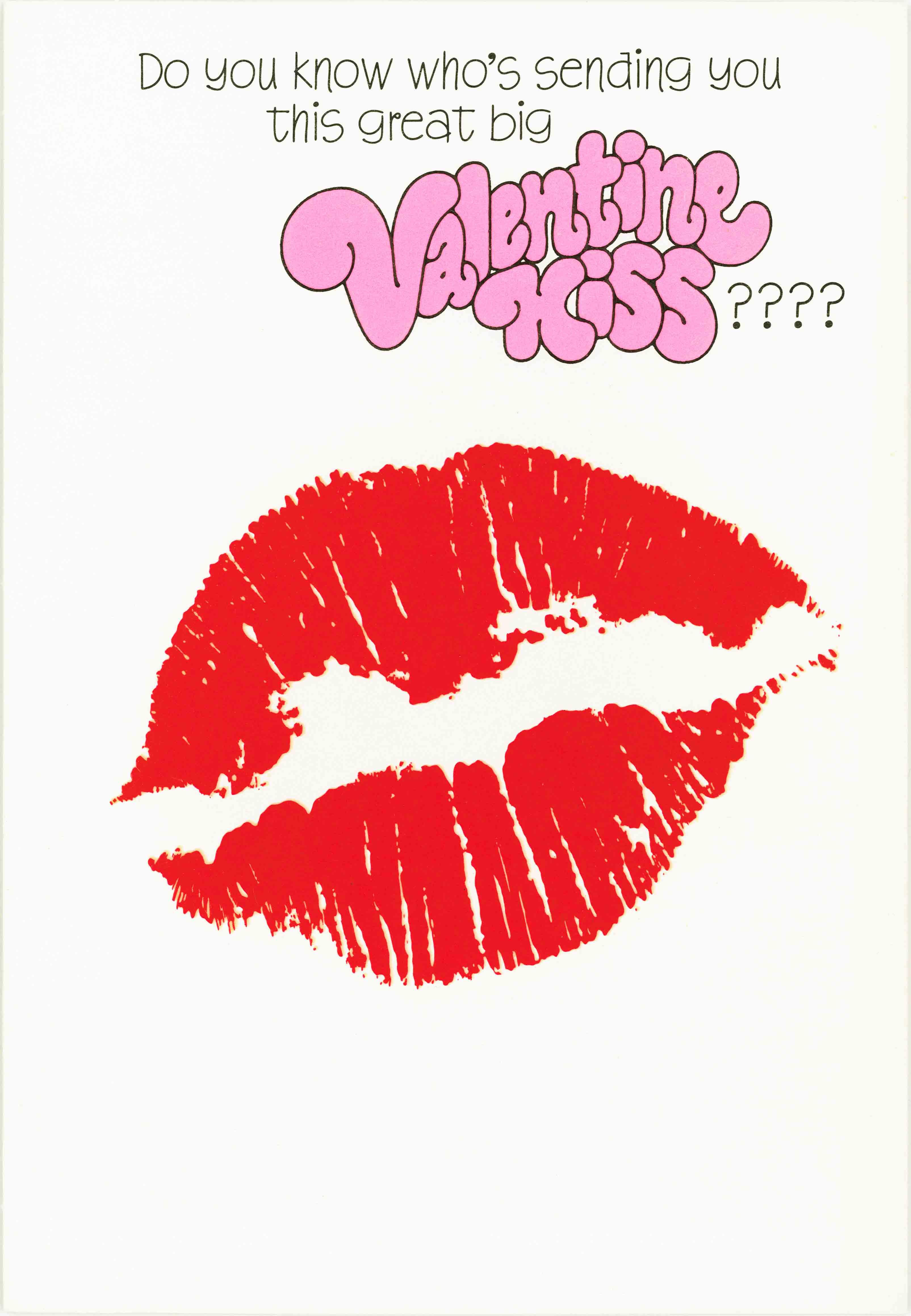 1970 Valentine's Day Card