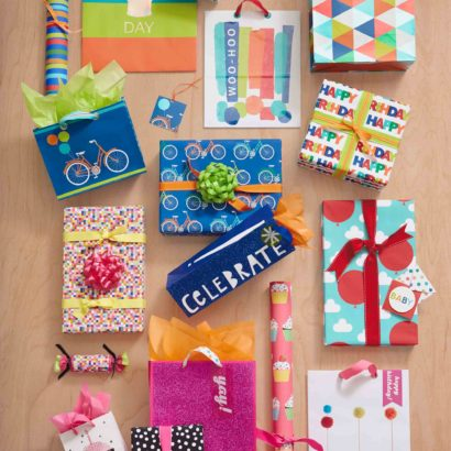 Hallmark Gift Wrap - Bright and Modern Collection