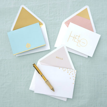 Everyday Gold Accent Stationery