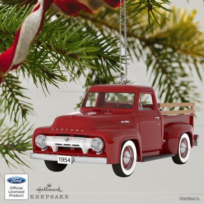 All-American Truck 1954 Mercury m-100 Metal Keepsake Ornament
